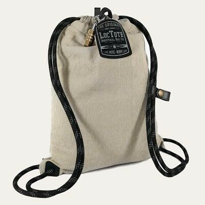 Loctote Flak Sack Sport 9 in. Khaki Backpack with Theft Proof Features