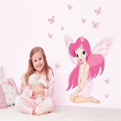 DIY Fairy Princess Butterfly Wall Stickers Decal For Girls Baby Kids Room Decor