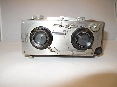 Cornu Ontoscope Stereo and Panoramic Camera, 6x13 Format on 120 Roll Film