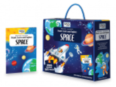 Sassi Junior Jigsaw Puzzle & Book -Travel Learn Explore Space-Age 6+