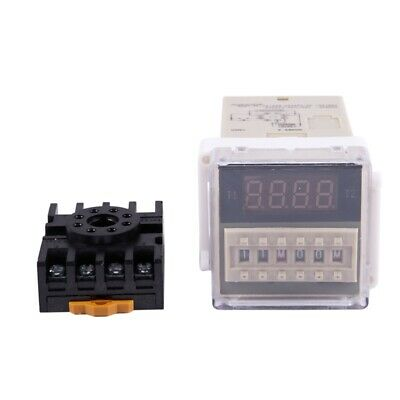 AC 220V 5A Programmable Double Time Timer Delay Relay Device Tool DH48S-S Q2H8