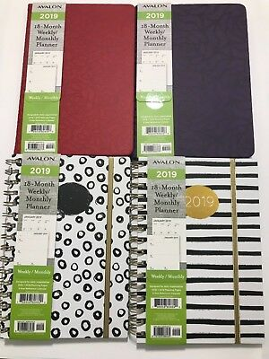 2019 AVALON 18-Month Weekly/Monthly Calendar Planner Appointment Book 6x8