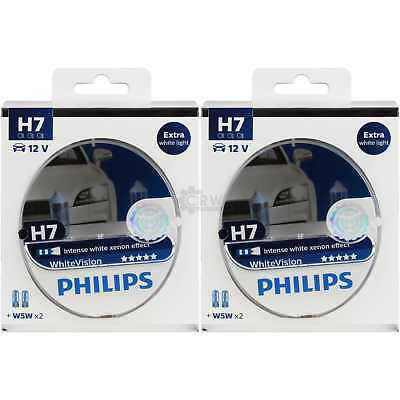 2x Philips WhiteVision H7 12V 55W PX26d + W5W xenon effect Birne