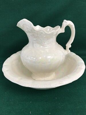 Pitcher and Bowl/ Mother of Pearl