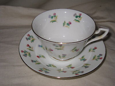 Adderleys Ltd Thistle Bone China Cup & Saucer 03497 Made in England