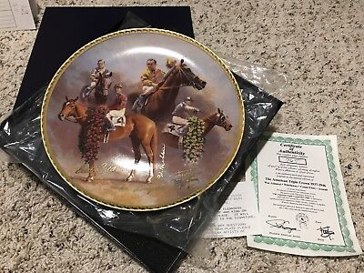 Fred Stone The American Triple Crown Gold Limited Edition Derby Plate Fred Stone