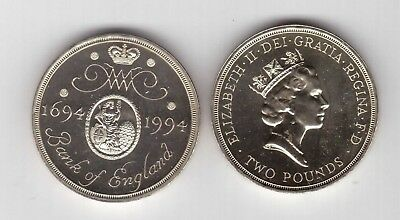 Uk United Kingdom – 2 Pounds Unc Coin 1994 Year Km#968 Bank Of England