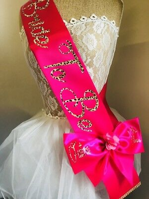 Bride To Be leopard print Sash-wedding-hen Night-bachelorette Party personalised