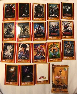 MARVEL MOVIES THE FIRST 10 Years  Card Set Upper Deck Exclusive Comic Con 2018