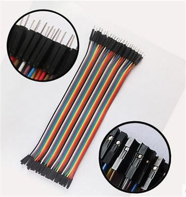 40Pcs Dupont Wire Jumpercable 20Cm 2.54MM For Arduino 1P-1P Male To Female Ne io