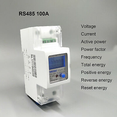 100A 220V 230V 50Hz 60Hz voltage current energy meter with RS485 MODBUS-RUT