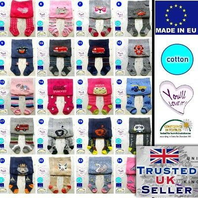 YO Baby Toddler Kid Cotton Tights Leg Warmers 0-3,6,9,18,24months Boys Girls NEW