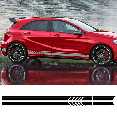 Mercedes Benz A CLA Class W176 A45 AMG Racing Stripes Decal Vinyl Graphics