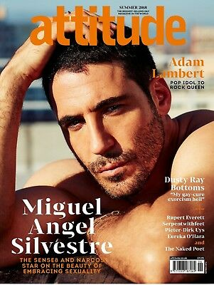 ATTITUDE Magazine July 2018 - MIGUEL ANGEL SILVESTRE COVER - ADAM LAMBERT