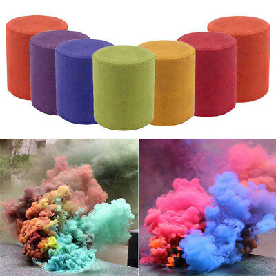 Smoke^Cake Colorful Smoke Effect Show Round Bomb Stage Photography Aid Toy GiftP