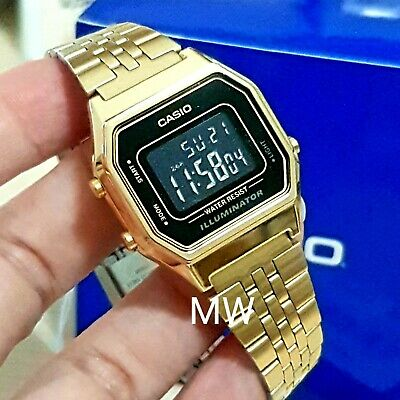 Casio New Ladies Gold Tone Digital Stainless Steel Watch LA680WGA-1B LA680WGA-1