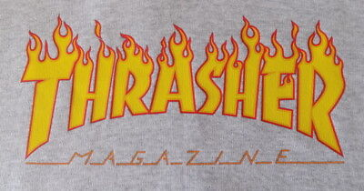 Sudadera Con Capucha Classic Gris Jaspeado Thrasher Fruit Of The Loom