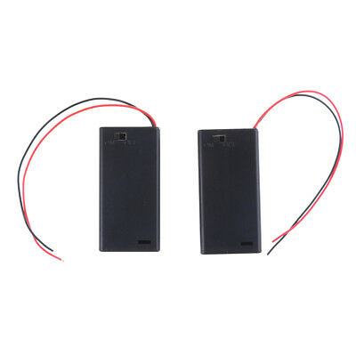 2PCS 3V 2 AA Battery Holder Case with ON/OFF Toggle Switch Box Pack Cover PL