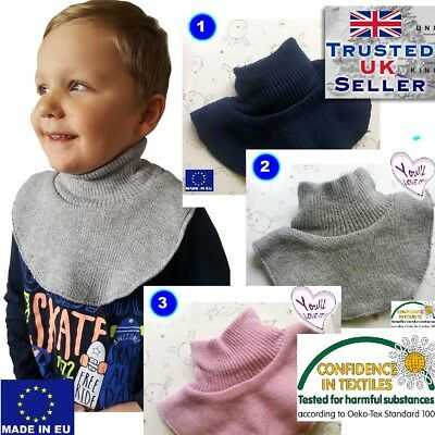 Girl boy baby toddler winter Scarf Snood Warm with fleece colour UK