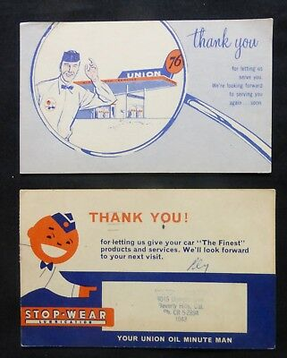 UNION OIL  Advertising  2 Cards  1 Post Card PM 1959  & 1 Non PC  #2035