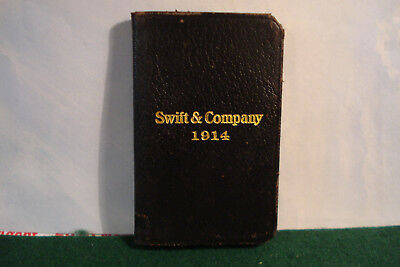 Swift Company 1914 Pocket Notebook And Business Card Case