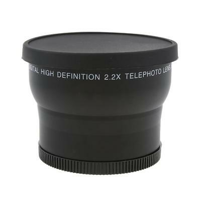 62mm 2x Magnification Telephoto Conversion Lens for Canon Nikon Camera DSLR