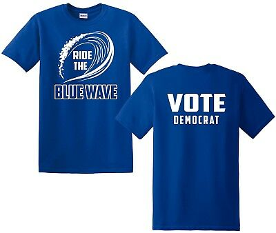 17f0c744d6a020 BLUE WAVE DEMOCRAT ANTI TRUMP MENS WHITE T Shirt S-3X -  9.99