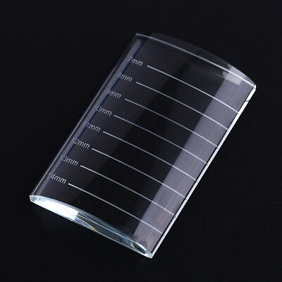 1pc U Type Crystal Curved Tile Eyelash Extension Stand Glass Glue Pallet PLZY