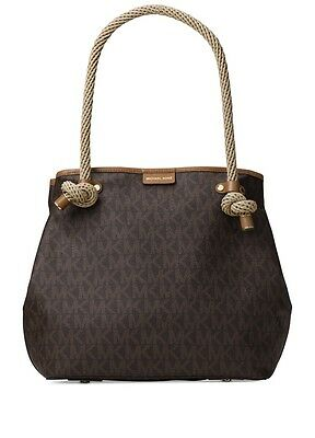 a7ad6edf783140 NEW MICHAEL KORS MARITIME navy canvas LARGE BEACH TOTE BAG 2 styles ...