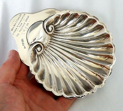1905 Silver Scallop Shell Butter Dish Presentation Trophy. Hadassah Group 1958.