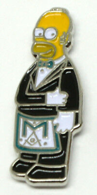 1 Homer Simpson Masonic Pin