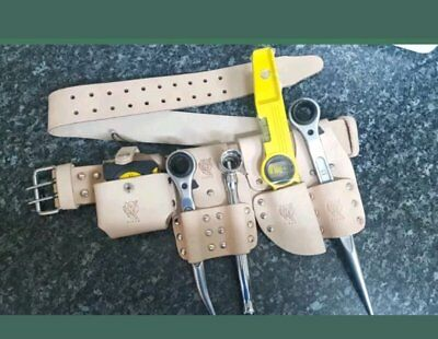 Scaffolding Leather Belt With 5 Pcs Tool Set Uk Branded