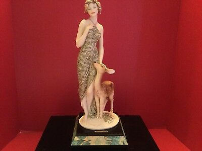 Lady With Deer Figurine By Armani