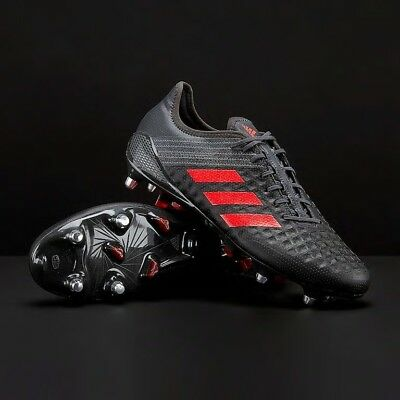mens rugby boots, studs. black, adidas, size 10.5 in great condition