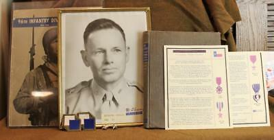 Vintage Ww2 Us Army Grouping General Easley 96Th Infantry Division With Military