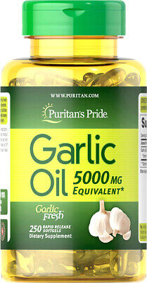5000mg GARLIC OIL Pills 250 Rapid Release Softgels Capsules - Puritan's