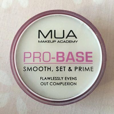 "MUA PRO-BASE Smooth Set & Prime Primer Base ""Flawlessly Evens Out Complexion"""