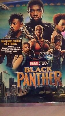 Marvel Black Panther (2018, Blu-ray + Slipcover) NEW FREE SHIPPING