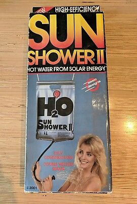 Sun Shower II Vintage Camping Shower Energy Efficient Portable NOS Deadstock