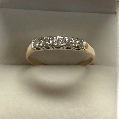 Ladies Beautiful 18K Gold 0.50Ct Total Diamonds Dress Ring W/ Certificate