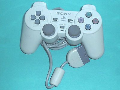2 ORIGINAL Sony PLAYSTATION CONTROLLER SCPH-110 DualShock White