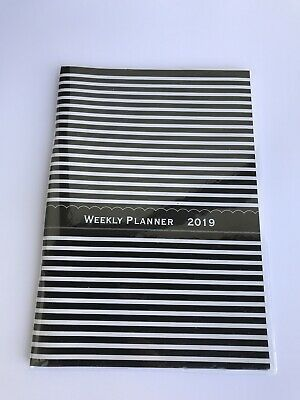 2019 Dated Day Planner Calendar Appointment Book MONTHLY 8X10 Black Blue Red