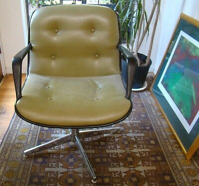 6 Vintage Mid Century Modern Knoll Steelcase Avocado green Office Chair