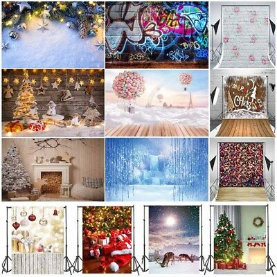 5x7ft/3x5ft Backdrop Christmas Image Vinyl Baby Photo Background Studio Props UK