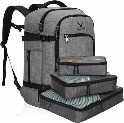 Hynes Eagle 40L Carry-on Backpack w/3-piece Travel Packing Cubes Wholesale Set