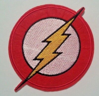 """The Flash Patch~3 5/8"""" x 3 5/8""""~Embroidered Applique~DC Comics~Iron or Sew on"""