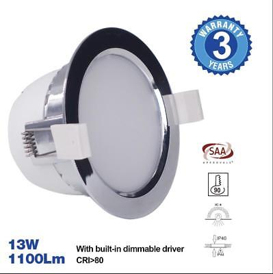 Premium Grade LED Down Light Wide Beam 13W 3000K Warm White High Output