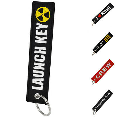 Fabric Key Ring Keychain Motorcycle Pilot Crew Aviation Bag Tag Luggage Tag Heal