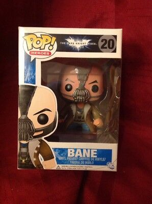 Funko Pop! Heroes The Dark Knight Rises Bane #20 Vinyl New in Box Vaulted Batman