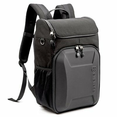 Evecase Shell DSLR Camera/15.6-inch Laptop Water Resistant Backpack - Grey